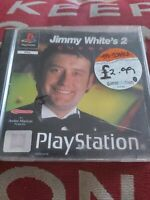 JIMMY WHITE'S 2 :CUEBALL ORIGINAL BLACK LABEL SONY PLAYSTATION 1 PS1 PS2 PAL