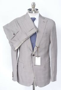 NWT CARUSO Gray Glen Check Superfine 130s Wool Rolling 3/2 Suit 40 R (EU 50)