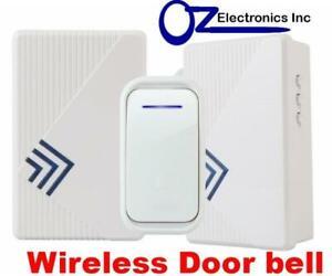 2x WIRELESS DOOR BELL DOORBELL DIGITAL CORDLESS PORTABLE 38 CHIME 150M RANGE