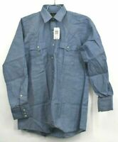 Vintage NOS Saddle King by Key Mens Long Sleeve Western Style Pearl Button Shirt