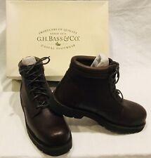 NWB G.H. BASS & CO. Sz 10 Mens Stanley Boots Dark Brown 4 Eye Waterproof
