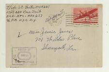 1945 Army Postal Service Air Mail Cover Passed by US Army Examiner