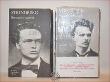 STRINDBERG, August: Romanzi e Racconti 2 volumi MERIDIANI MONDADORI Antologia