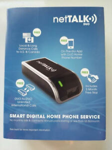 NetTalk Duo Home Phone Line VoIP Service Like Magic Jack {3 months FREE Service}