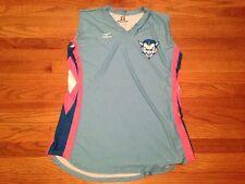 New Mizuno Women's Large Volleyball Jersey Duke Blue Devils Pink White #23