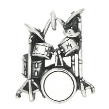 STERLING SILVER DRUM SET CHARM/ PENDANT
