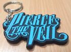NEW PIERCE THE VEIL  KEYCHAIN RUBBER UNISEX WITH CHARM BLUE BLACK TALL 4 CM RU45