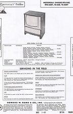 1961 Photofact MOTOROLA Chassis RTS-568 568Y TS-568 568Y 23K34CW Television TV
