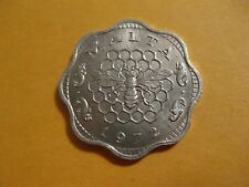 1972 Malta Coin 3 Mils Bee and Honeycomb  Uncirculated Beauty  animal coin