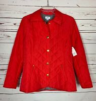 Crown & Ivy Boutique Women's S Small Red Winter Coat Jacket NEW With TAGS $99