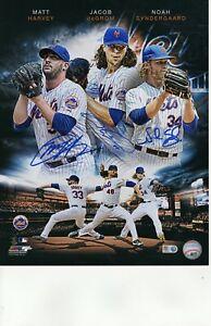 Matt Harvey Jacob DeGrom Noah Syndergaard 11 x 14 Photo picture Fanatics & MLB
