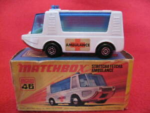 Matchbox Superfast Number 46 Stretcha Fetcha Ambulance. 1971 Made in England.