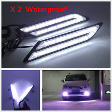 2x Car HID LED Daytime Running Light DRL Fog Lamp Daylight Blade Shape White