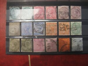 India:1882 90 Definitive set with all SG listed shade varieties, Used