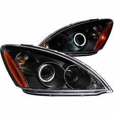 Anzo 121102 Projector Head Lights Lamp Black with Halo for 2004-2007 Lancer