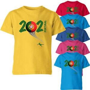 Portugal 2021 Football Kids T Shirt Soccer Training Jersey Sports Tee Top