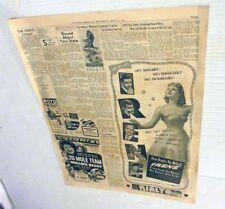 Vintage Movie / Film Newspaper Ad Page 5/22/40 : Irene / 20 Mule Team