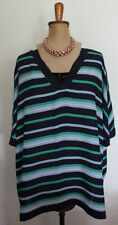 Career Striped Plus Size Tunic Tops & Blouses for Women