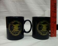 Nra National Rifle Association America Navy Blue Gold Coffee Cup 1871 Set of 2