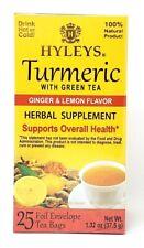 Hyleys Turmeric with Green Tea Ginger and Lemon Flavor 25 teabags