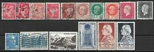 1940-49 FRANCE 13 USED + 3 MLH STAMPS CV $4.40