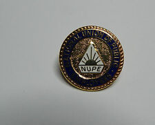 1980's N.U.P.E union of public employees enamel and gilt badge Fattorini