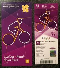 LONDON 2012 TICKET CYCLING ROAD RACE BOX HILL 28 JULY & SPECTATOR GUIDE *MINT*