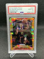 2019 Panini Prizm Orange Ice DeAndre Hunter PSA 10