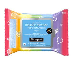 """Neutrogena Makeup Remover """"Care with Pride"""" Cleansing Towelettes, 25 Count Pack"""