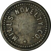 SAN FRANCISCO CA MILLS NOVELTY GOOD FOR 5 CENTS IN TRADE TOKEN!  FF735UNX