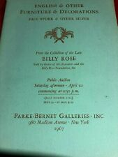 Parke-Bernet Galleries,  From Billy Rose English & Other Furniture..,Apr 22,1967