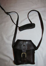 vintage bucket style crossboody STEAMPUNK REN dark brown leather saddle  bag