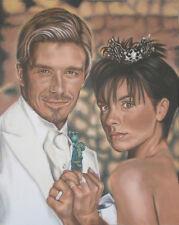 Original Painting of DAVID BECKHAM AND VICTORIA'S WEDDING