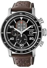 CITIZEN CA0641-24E Eco-Drive Mens Solar Watch WR100m Leather Band RRP $750.00