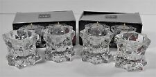 LOT OF 4 MIKASA SPARKLING STAR VOTIVE LEAD CRYSTAL CANDLE HOLDERS