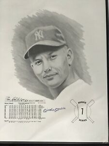 Mickey Mantle Rookie Series Lithograph 726/1000 18x24