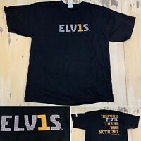 ELVIS PRESLEY - Vtg Black ELV1S #1 Greatest Hits Album T-shirt, Mens XL