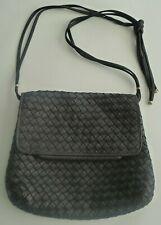 Estate! Vintage Black Braided Soft Leather Ladies Purse Handbag