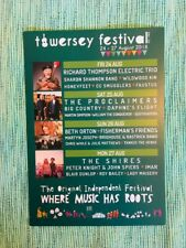 TOWERSEY FESTIVAL -A5 FLYER- R, THOMPSON, PROCLAIMERS, BIG COUNTRY, SHIRES, MORE