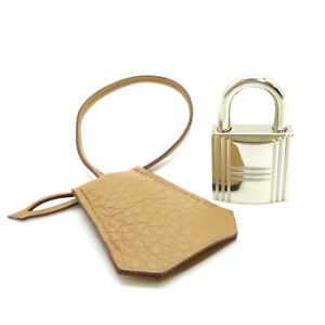 Authentic HERMES Clochette Cadena PadLock & 2Keys Silver Tone No.8 #S211038
