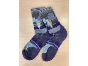 Smartwool Women's PhD® Outdoor Light Pattern Hiking Crew Socks Mountain Purple S