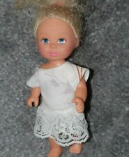 Handmade White patterned Lace. To Fit Barbie's liltle sister Shelly