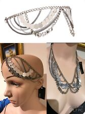 New ❤️❤️❤️ Mimco Silver Romany Chain Headband Fascinator Or Necklace Choker