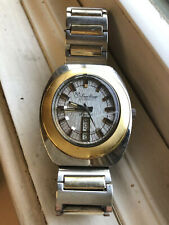 Lucien Piccard Luccard Vintage Automatic Mens Watch Day/Date Runs Perfect 38mm