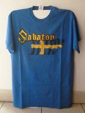 "SABATON ""Swedish War Machine"" original blue t.shirt-out of stock!-M"