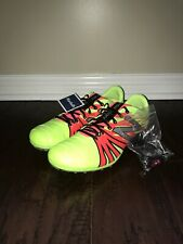 NEW BALANCE SD100YP v1 Lime Green Flame Sprint Track Spikes Shoes Mens Sz 9.5