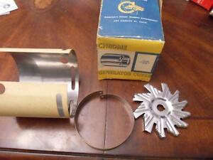 NOS 1954-59 Ford Mercury cal custom chrome generator cover Cal custom hot rod
