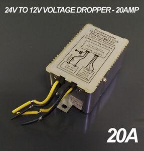 24v to 12v DC Voltage Dropper - 20A / 20 AMP Max Current