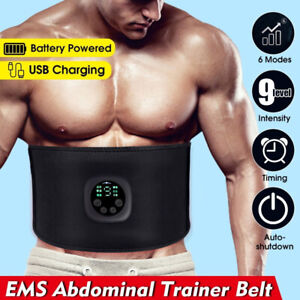 EMS Abdominal Muscle Toning Trainer ABS Electric Stimulator Toner Fitness Belt