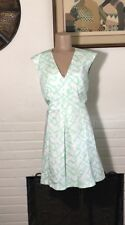 French Connection Womens Size 10 Green & White Sheath Dress